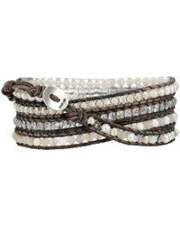 Chan Luu | 32 White Mixnatural Grey Wrap Bracelet | Lyst