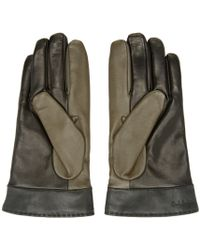 Paul Smith - Green Tricolor Touch Glove for Men - Lyst