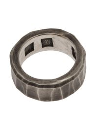 Werkstatt:münchen - Gray Brushed Metal Silver Ring for Men - Lyst
