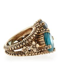 Stephen Dweck | Metallic Popcorn Blue Topaz Agate Opal Mosaic Ring | Lyst