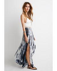 d5e8c1f6204a Forever 21 Tie-dye Maxi Skirt in White - Lyst