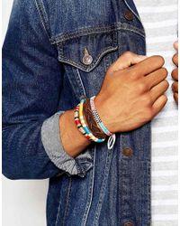 ASOS - Multicolor Bracelet Pack With Colour Detail for Men - Lyst