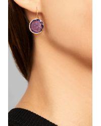 Ippolita | Purple Lollipop 18-Karat Gold Amethyst Earrings | Lyst