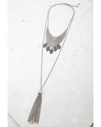 Forever 21 | Metallic Tassel And Chain Mesh Necklace Set | Lyst