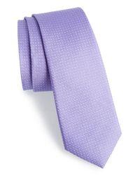 Calibrate | Purple Dot Silk Tie for Men | Lyst