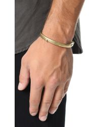 Giles & Brother - Metallic Latch Cuff for Men - Lyst