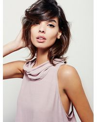 Free People | Pink City Lights Cowl Top | Lyst