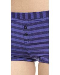 Splendid - Blue Essential Boy Shorts - Tonal Stripe - Lyst