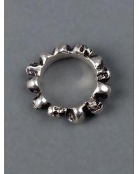 Werkstatt:münchen | Gray Skull Ring for Men | Lyst