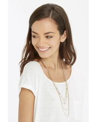 Oasis | Metallic Facet And Multi Row Necklace | Lyst