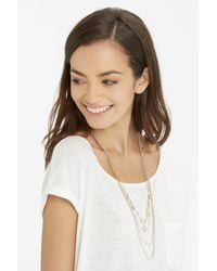 Oasis - Metallic Facet And Multi Row Necklace - Lyst