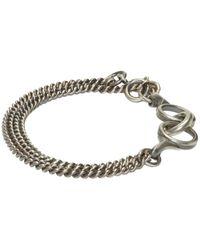 Ann Demeulemeester | Metallic Silver Curb Chain Bracelet for Men | Lyst