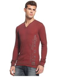Guess | Black Myer Rib Burnout T-Shirt for Men | Lyst