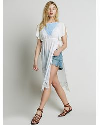 Free People - White Embroidered Lace Maxi - Lyst