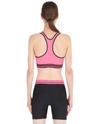 Under Armour | Pink Heatgear Alpha Training Sports Bra | Lyst