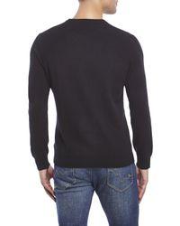 Qi | Black Cashmere Crew Sweater for Men | Lyst