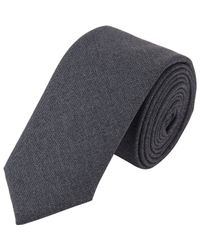 Wooster + Lardini - Gray Worsted Wool Neck Tie for Men - Lyst