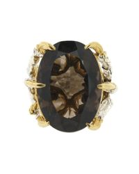 Tessa Metcalfe - Brown Smokey Quartz Deborah Ring - Lyst