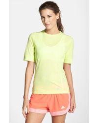 Adidas | Yellow 'supernova' Climacool Short Sleeve Tee | Lyst
