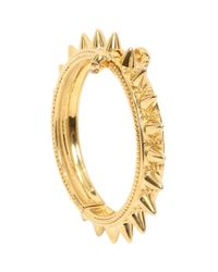Alexander McQueen - Metallic Skull Spike Bangle - Lyst