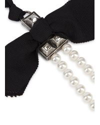 Lanvin - White Perles Royales Long Faux Pearl Necklace - Lyst