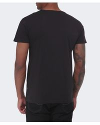 Replay | Black Chest Pocket T-shirt for Men | Lyst