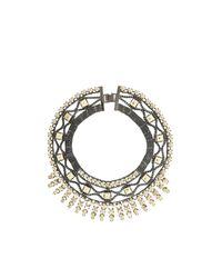 BCBGMAXAZRIA | Metallic Metal-spike Bib Necklace | Lyst
