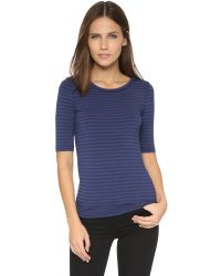 Free People - Blue Striped Leader Of The Pack Tee - Lyst