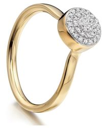 Monica Vinader - Metallic Gold Vermeil Diamond Ava Button Ring - Lyst