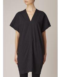 Uzi | Black Oversized V-neck Dress | Lyst