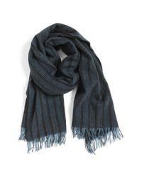 John Varvatos | Blue Cashmere Scarf for Men | Lyst