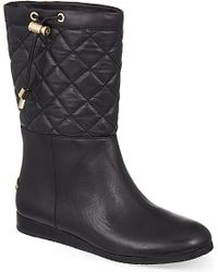 MICHAEL Michael Kors - Black Lizzie Quilted Leather Boots - Lyst