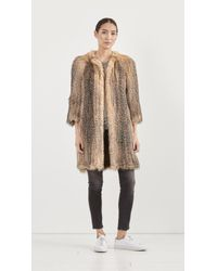 Yves Salomon - Brown Knitted Fox Jacket - Lyst