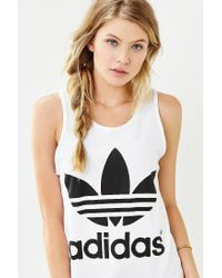 Adidas | Black Double Logo Tank Top | Lyst