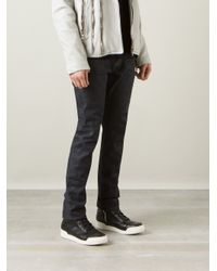 Saint Laurent | Blue Straight Leg Jeans for Men | Lyst