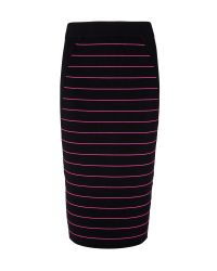 Ted Baker | Black Shelpa Stripe Knitted Midi Skirt | Lyst