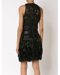 Amen - Black Fringed Lace Dress - Lyst