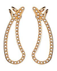 Vita Fede | Metallic Crystal Teardrop Cutout Pierced Earring Cuffs | Lyst