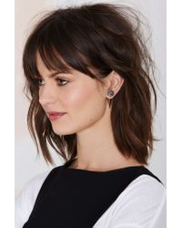 Nasty Gal | Metallic Spear Me Back To Front Earrings | Lyst
