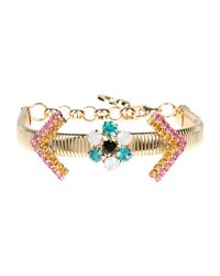 Class Roberto Cavalli - Metallic Bracelet - Lyst