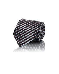 Ermenegildo Zegna | Blue Men's Diagonal-striped Jacquard Necktie for Men | Lyst