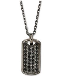 Emporio Armani | Metallic Men's Sterling Silver Dog Tag Pendant Necklace Eg3172 for Men | Lyst