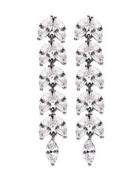Dyrberg/Kern | White Lilas Earrings | Lyst