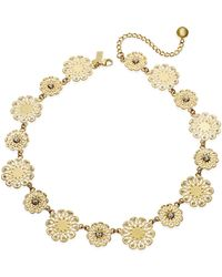 kate spade new york | Gold-tone Metallic Flower Collar Necklace | Lyst