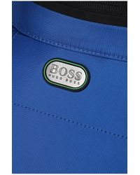 BOSS Green Blue 'jelger' | Quilted Jacket With Zip Out Hood for men