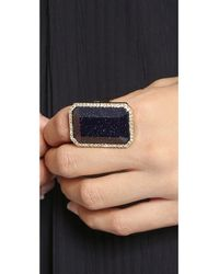 kate spade new york | Metallic Night Sky Jewels Cocktail Ring - Blue/Clear | Lyst