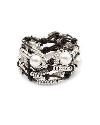 Uno De 50 | Metallic Pearl And Bead Layered Bracelet | Lyst
