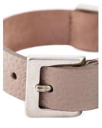 Alexander McQueen - Pink Embellished Skull Bracelet - Lyst