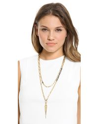 Paige Novick - Metallic Claire Collection Caged Spike Necklace  - Lyst