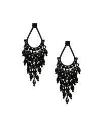 Oasis | Black Teardrop Faceted Cascade Earrings | Lyst